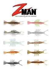 """Z Man Scented Shrimpz 3"""", 5pk Soft Plastic Shrimp Fishing Lure Bait ZMan Baits"""