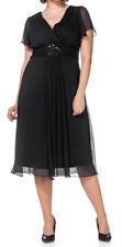 Sheego Eventkleid Abendkleid Kleid Gr. 42 bis 56 schwarz Ton (725 schwarz)