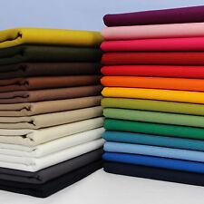 100% Cotton CANVAS fabric medium weight 92cm wide per metre