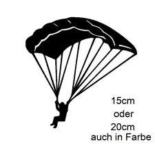Autoaufkleber Paragleiter Gleitschirm Fallschirm Paragliding  Aufkleber 41/1/1