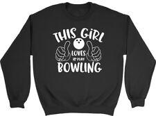 This Girl Loves to Play Bowling Mens Womens Ladies Unisex Sweatshirt
