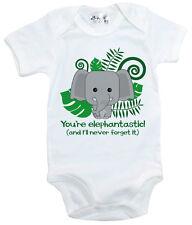 """GRACIOSO Body de bebé You're elephantastic"""" Pelele Camiseta ELEFANTE ANIMAL"""