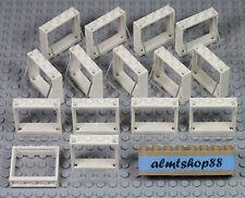 LEGO - 1x4x3 White Windows w/ Trans Clear Glass Pane Lot Part #60594 House Bulk
