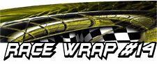 RACE CAR GRAPHICS #14, Half Wrap Vinyl Decal IMCA Late Model Dirt Trailer Truck
