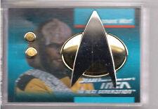 Lieutenant Worf Star Trek Next Gen Communicator Pin & Rank Pip Set