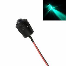 VERDE PRE cablato 10mm LED + GHIERA SUPPORTO LUCE LAMPADA 12V