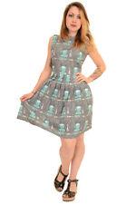 Ladies Run & Fly 50s Retro Vintage Fabric Mannequin Pleated Tea Dress