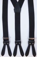 Hosenträger mit Lederpatten zum knöpfen, viele Farben, 35mm breit,