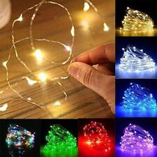 Multicolore Guirlande Lumineuse 2-10M LED Etanche à Piles Extérieur/Intérieur