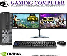 ULTRA FAST Gaming PC Bundle Intel Core i5 8GB 1TB Windows 10 GT710 DUAL SCREEN