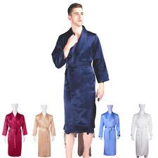 Mens 16-40mm 100% Mulberry Silk Long Bath Robe Nightshirt Sleepwear Nighties