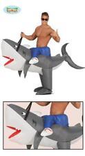 Costume con squalo gonfiabile cavalcabile da adulto carnevale festa mare Guirca