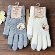 Winter Gloves Unisex Warm Stretch Knit Mitten Imitation Wool Full Finger Crochet