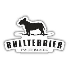 Wetterfester Aufkleber Bullterrier Hunde Dogs Rasse größe 15 oder 60 cm