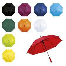"Ladies 37"" Automatic Umbrella Walking Brolly Fibreglass Soft Foam Stick Handle"