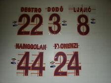 2688 ROMA NAME SET NOME E NUMERO ROMA SHIRT JERSEY 2013 2014 PERSONALIZZAZIONE