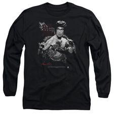 Bruce Lee The Dragon Mens Long Sleeve Shirt BLACK