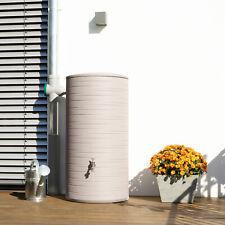 Regentonne rund Regenwassertank Regenwassertonne Novara 285 L taupe Wassertank
