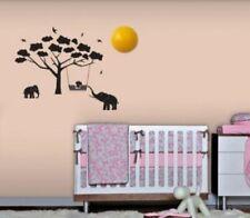 Safari Wandlampe mit Wandtattoos   BABYZOO 8810081   Kinder Nachtlampe