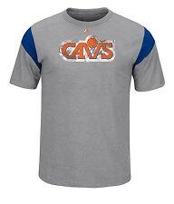 Cleveland Cavaliers NBA Mens Gray Short Sleeve Team Logo T-Shirts: M-2XL