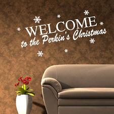 Personalizado De Navidad Frase Pared Adhesivo Pegatina Decoración Arte xm13