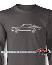 1969 Plymouth Barracuda 383 'Cuda Fastback Long Sleeves T-Shirt Multi Col. Sizes