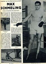 Max Schmeling-Aufstieg und Ausichten eines jungen Boxers--Werbung von  1929-