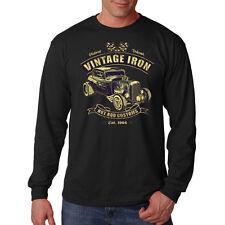 Vintage Iron Hot Rod Customs Car Auto Racing Long Sleeve T-Shirt Tee
