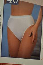 Wonderbra Vintage Panties, Hi-Waist Basic Panty #560, White, Natural, Black S-M