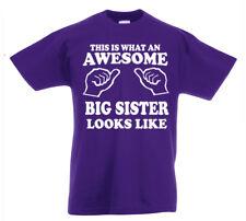STUPENDA Big Sister T-shirt 3-13yrs anni regalo compleanno ragazze divertente Z1