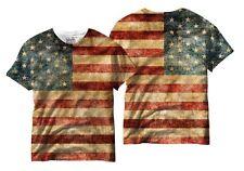 Vintage American Flag USA Pride Patriotic Stars Mens Sublimation Shirt V20000MT