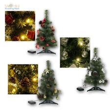 Weihnachtsbaum 45cm mit Deko & LED-Lichterkette Christbaum beleuchtet Batteriebe