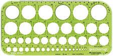 Faber-Castell Lochkreisschablone groß 259x129mm 1-36mm Kreisschablone NEU&OVP