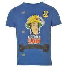 Pompiere Sam: Blu scuro * Pompiere Sam * T Shirt, 2/3,3/4,4/5,5/6,7/8YR, NUOVO CON ETICHETTE