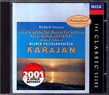 Karajan: Strauss quindi vocale Zarathustra Don Giovanni Salome CD DECCA Classic Sound