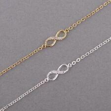 Infinity Bracelet Women Crystal Stones Number 8 Chain Bracelets