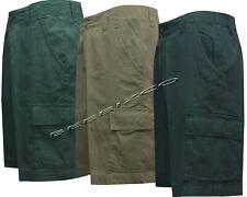"Mens 100% Cotton Ripstop Cargo Combat Shorts 5 Pockets Zip Fly Pants 30""- 38"""