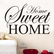 Home Sweet Home Wall Art Autocollant Citation Décoration grande