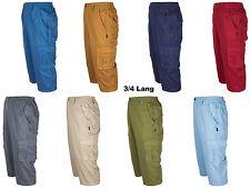Herren Cargo Shorts Bermudas  von SOUNON®, 3/4 Lang aus 100 % Baumwolle