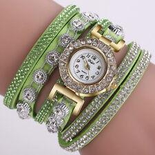 CCQ Women Fashion Leather Watches cAnalog Quartz Rhinestone Watch Bracelet Watch