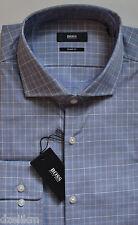 NWT Hugo Boss Black Label By Hugo Boss Sharp Fit Plaid Dress Shirt