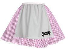 Ladies Pink Gingham Little Miss Muffet Skater Skirt World Book Day Fancy Dress