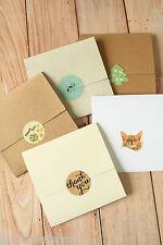 No Glue CD Envelopes 5pc eco friendly recycled shabby chic kraft Wedding Favours