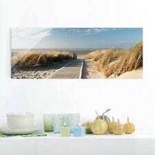 Glasbild Ostsee Strand Panorama Quer Wandbild Echtglas farbecht Motiv Design