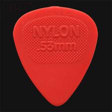 Dunlop Nylon Midi Picks / Plectrums - 0.53mm Red - 1 2 3 4 5 6 10 12 20 24 36