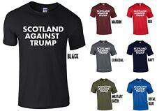 L'Ecosse contre Trump T-shirt-Anti Donald Slogan Déclaration Royaume-Uni visite de Protestation