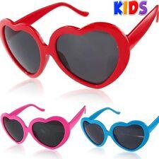 Kids Girls Children Heart Love Shape Sunglasses Full UV400 Protection