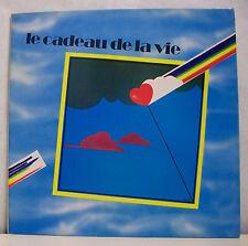 """33T CADEAU DE LA VIE1980 Disque LP 12"""" HALLYDAY BIRKIN GAINSBOURG PERRET BREL .."""