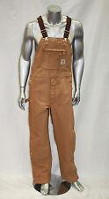 Men's Carhartt  Carpenter Zip Overall Wheat 100% Cotton