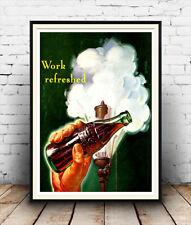 Lavoro aggiornata COCA COLA-Vintage Magazine Ad, Wall Art, Poster Riproduzione